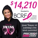 Press Release: PTE Donates $14,210 to the Breast Cancer Research Foundation