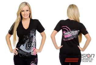 Precision Turbo and Engine T-Shirt: Turbo Tread (Ladies)