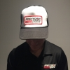 Precision Turbo & Engine Adjustable Trucker Hat (White)