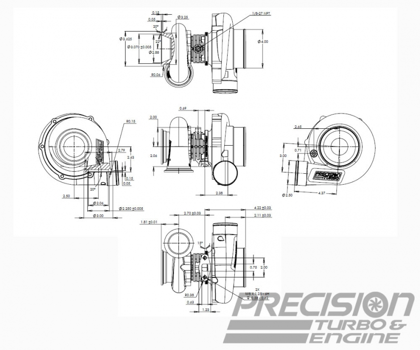 Precision Turbo Fittings: Flange? Oil Return Line Fitting?